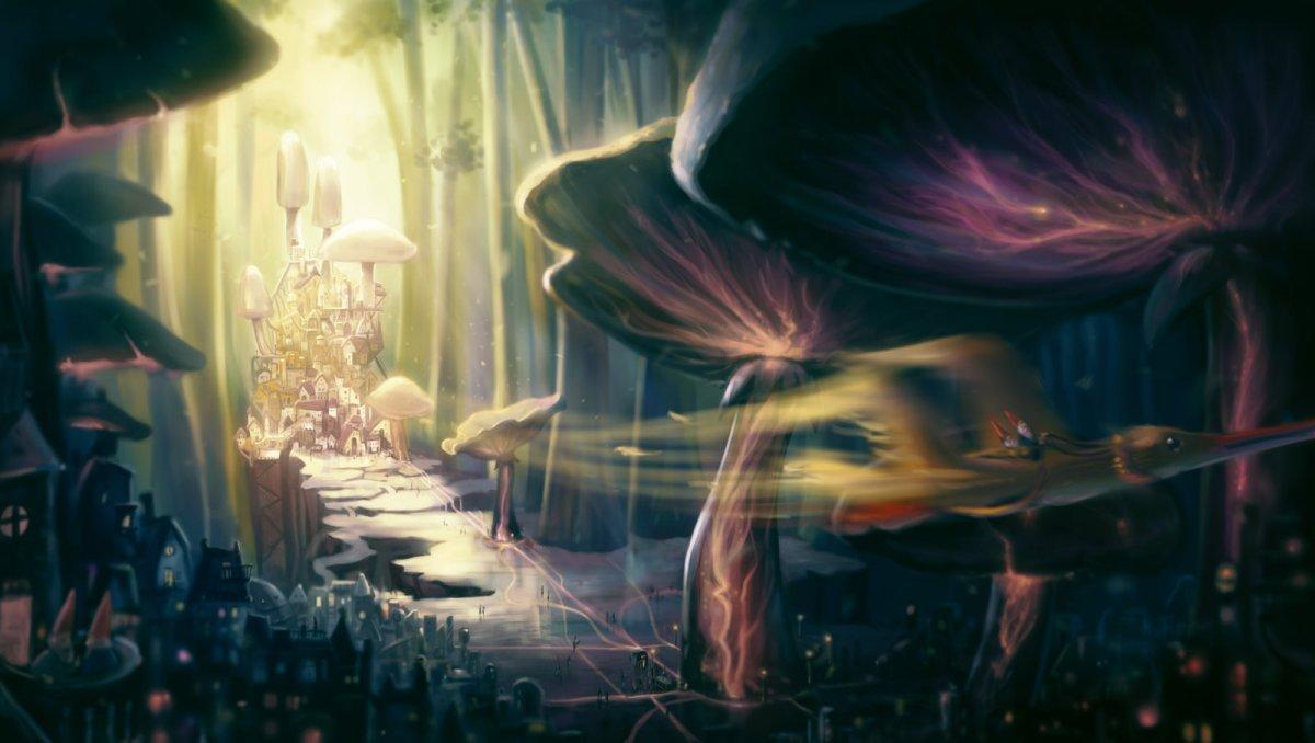 mushroom_city_by_bakenius-d5uc3ei